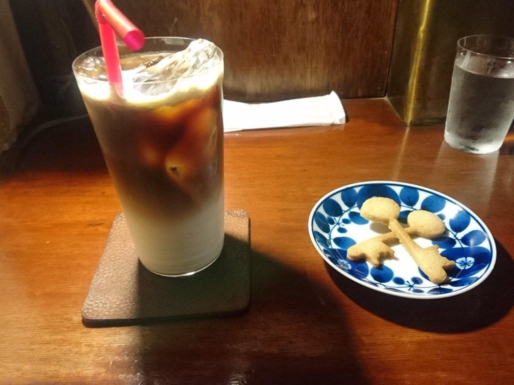 寿珈琲 アイスカフェオレ