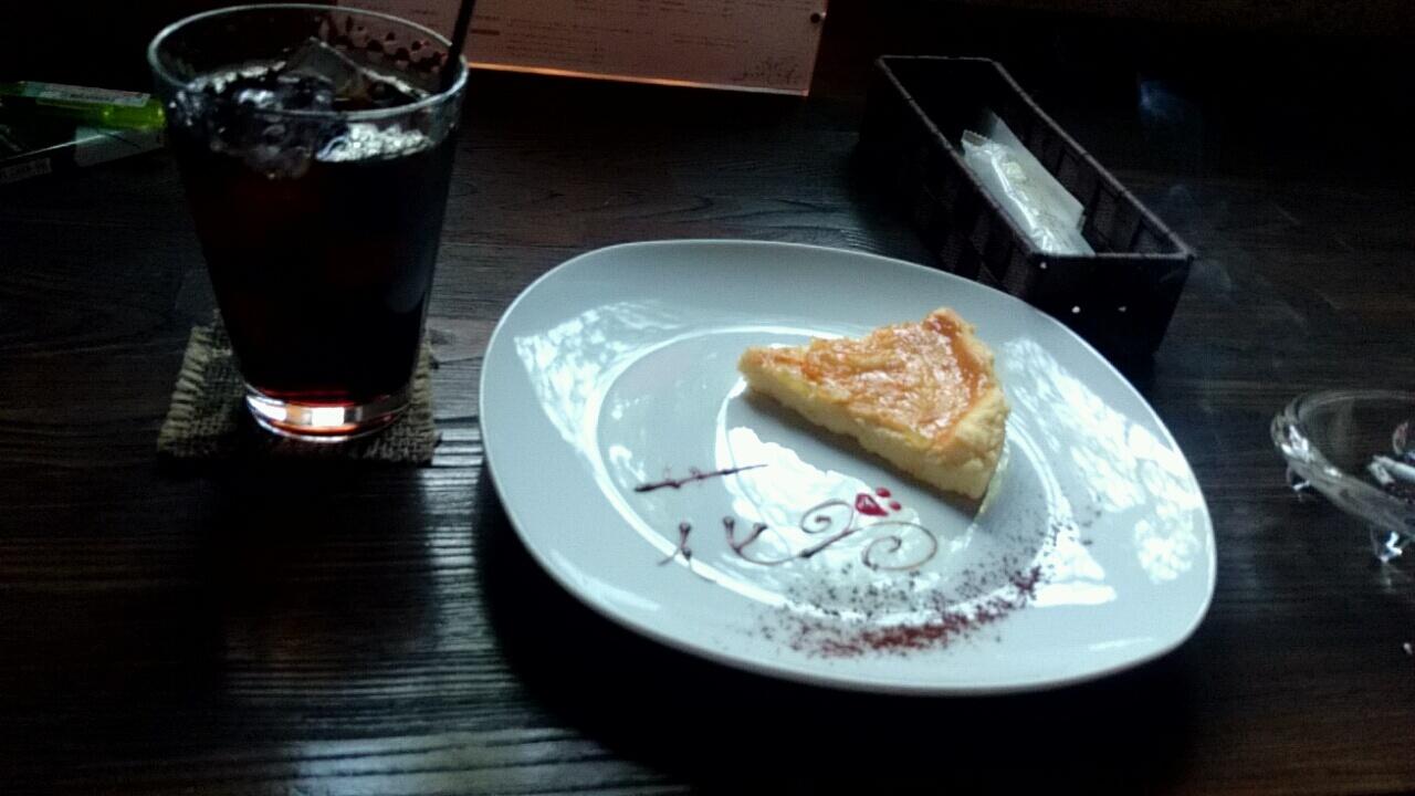 花論珈琲 チーズケーキ
