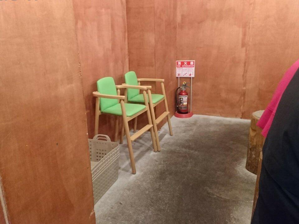 中華そば 札幌煮干センター お子様椅子