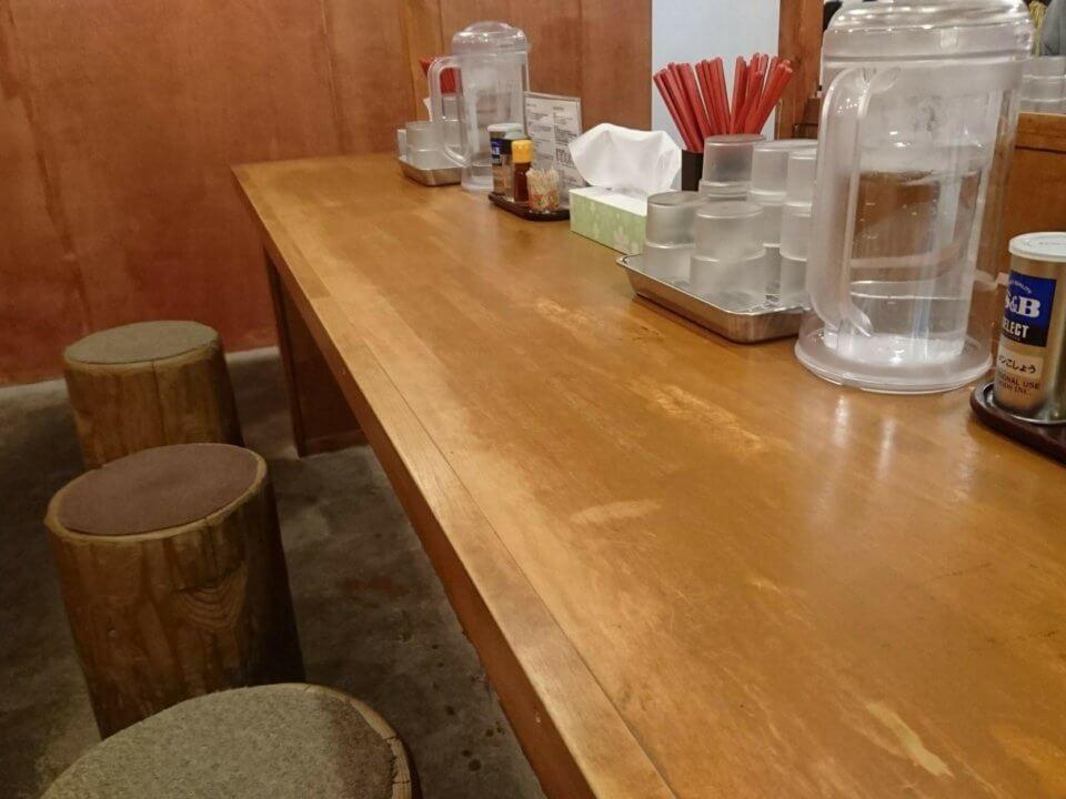 中華そば 札幌煮干センター カウンター