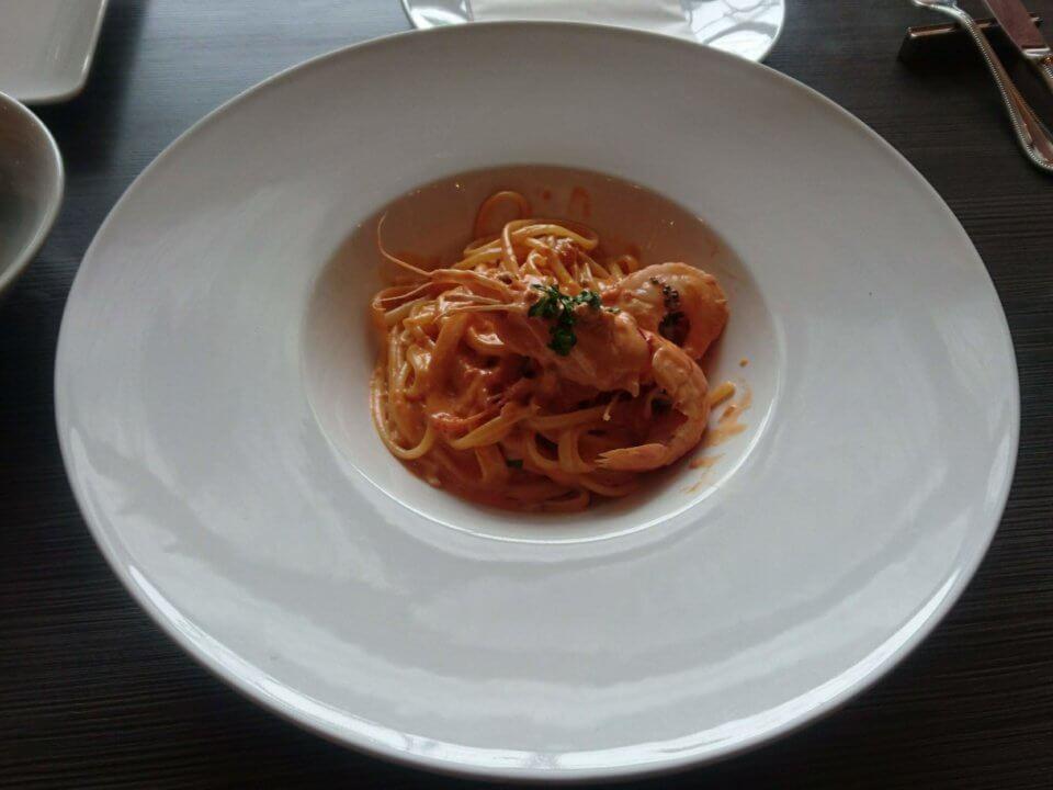 トラットリア・ピッツェリア nodo 手長海老のトマトクリームソース