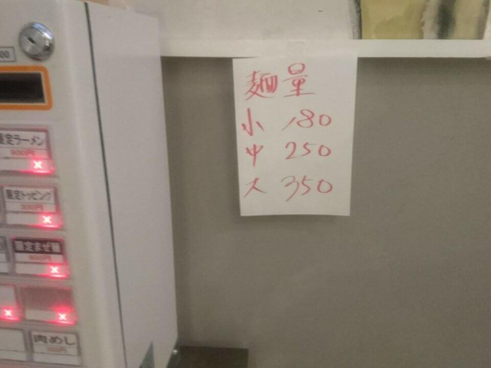 MEN-EIJI Full. 麺の量