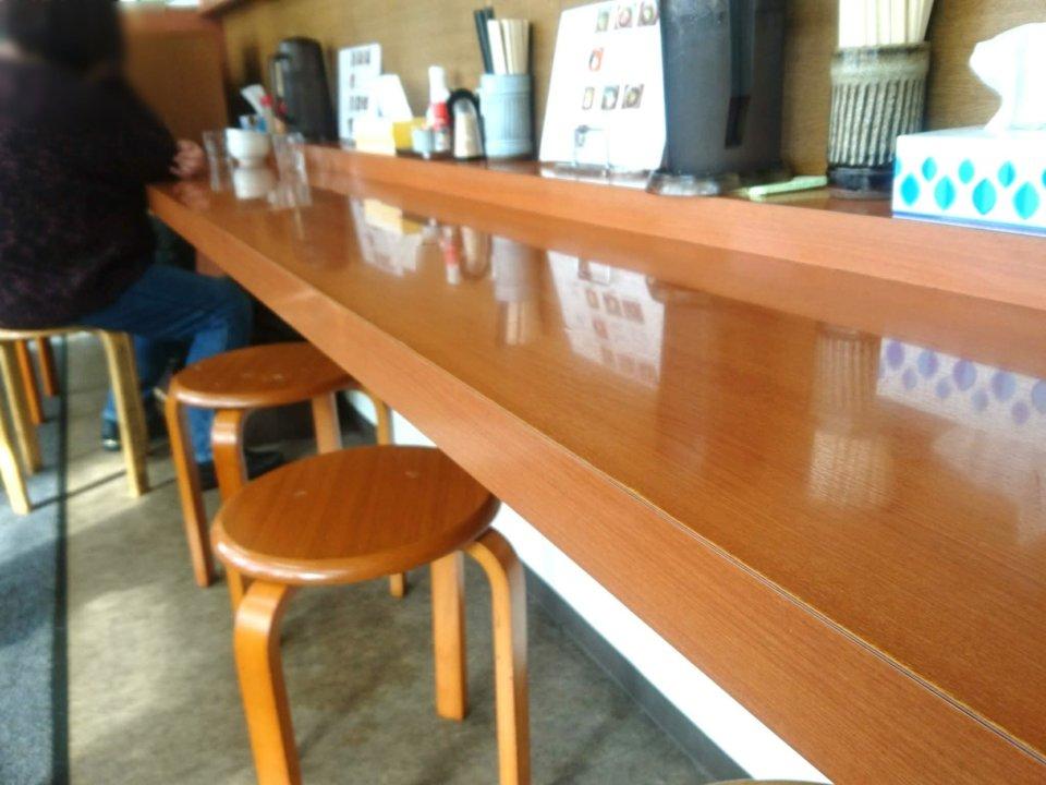 らー麺 ふしみ カウンター席