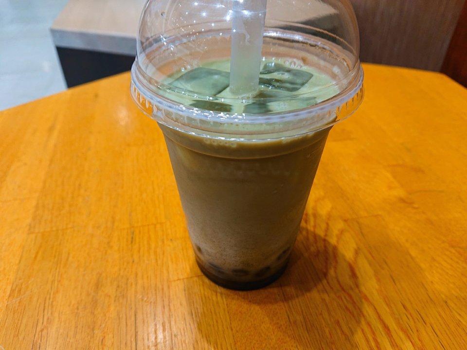 和茶タピオカ トリプル 大谷地キャポ店 タピオカ高級抹茶ミルク