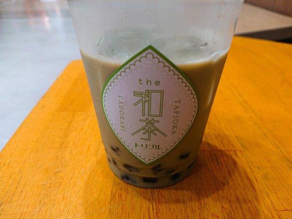 和茶タピオカ トリプル 大谷地キャポ店